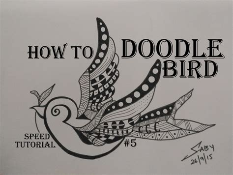 how to draw doodle for beginner zentangle tutorial for beginners draw easy bird
