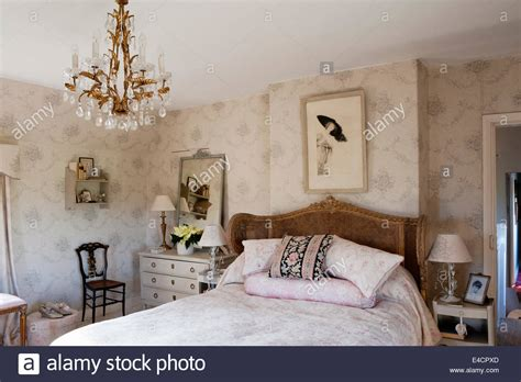 beautiful french bedroom chair with kate forman fabric 163 grey sophia wallpaper by kate forman in bedroom with