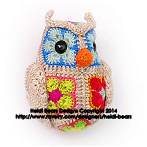 free pattern heidi bears ravelry fat little owl african flower pattern by heidi bears