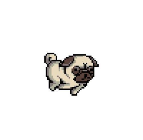 pixel pug dogs pixel pixels pugs image 3777832 by lauralai on favim