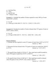 Specific Heat Worksheet Answers by Pictures Specific Heat Practice Problems Worksheet