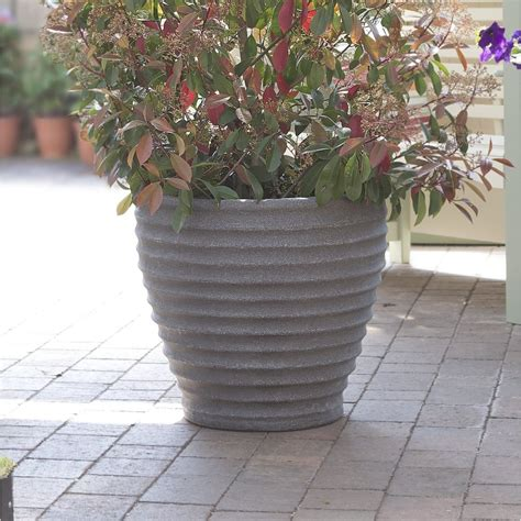 Large Resin Planters Outdoor by Buy Stylish Outdoor Large Plastic Patio Planters