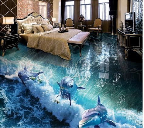 dolphin wallpaper for bathroom custom photo floor wallpaper 3d dolphin bathroom 3d
