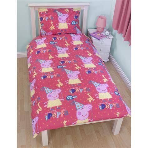 Toddler Duvet Size peppa pig george pig duvet quilt covers toddler