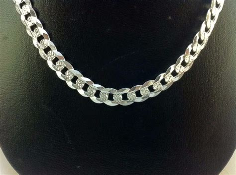 cadena de plata ga01 925 cadena gruesa de plata 925 tejido cubano 1 599 00 en