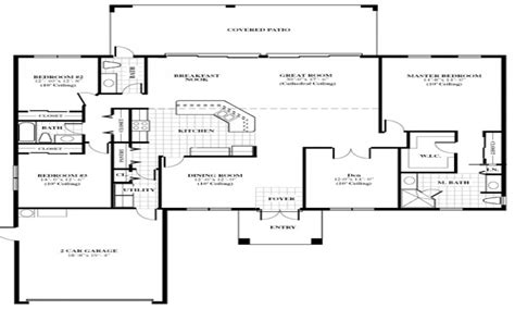 family floor plan single family home designs