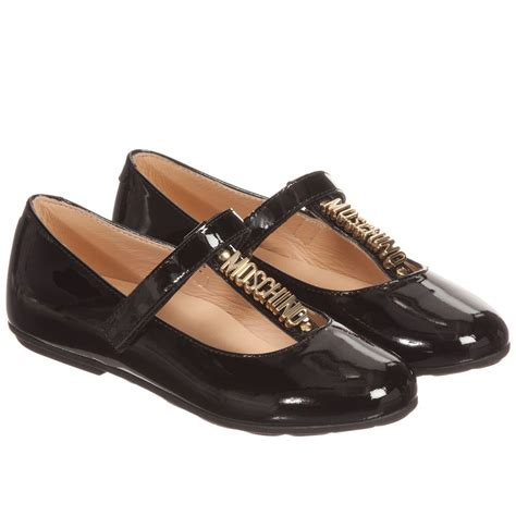 black patent leather shoes moschino kid black patent leather shoes