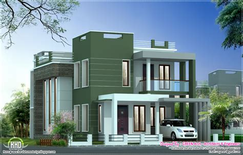 4 Bedroom Modern House Plans contemporary villa elevation in 2100 sq feet house