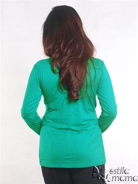 Kaos Wanita Murah Exo Green Hijau kaos menyusui pevisa lengan panjang hijau estila