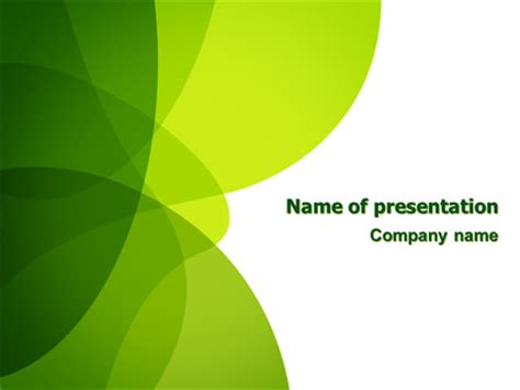 Green Theme Presentation Template For Powerpoint And Themes For Slides