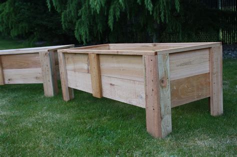 Deck Planters by Cedar Deck Planters Garden Boxes Made In The Usa Grow Organic Vegetables Ebay