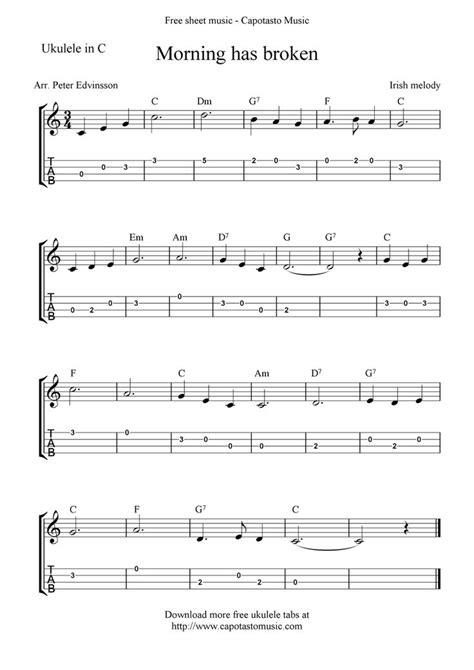 printable sheet music for ukulele free ukulele sheet music free sheet music scores