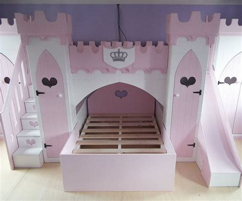 Princess Bunk Beds With Stairs Children S Princess Castle Bunk Bed With Slide Stairs Wardrobes Beds Pinterest