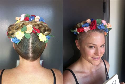 Frida Kahlo Hairstyle by Colorful Updo Frida Inspired Neil George