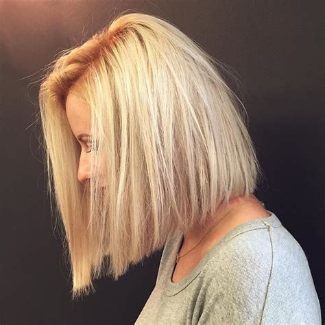 slightly angled long lob 50 amazing blunt bob hairstyles 2018 hottest mob lob