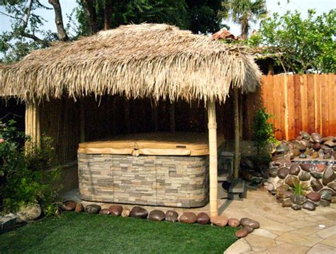 Tiki Hut Hot Tub Cover Tiki Huts Tiki Bars Backyard Tiki Hut