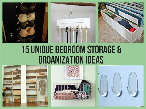 unique bedroom storage organization ideas