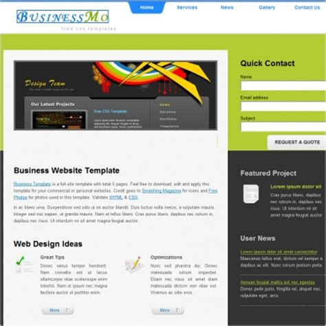 web templates for business free download business free website templates in css html js format