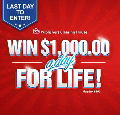 How Many Times Can You Enter Pch - win 1 000 00 a day for life last day to enter pch blog