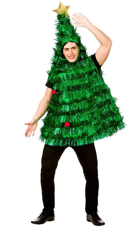 deluxe tinsel christmas tree fancy dress costume for