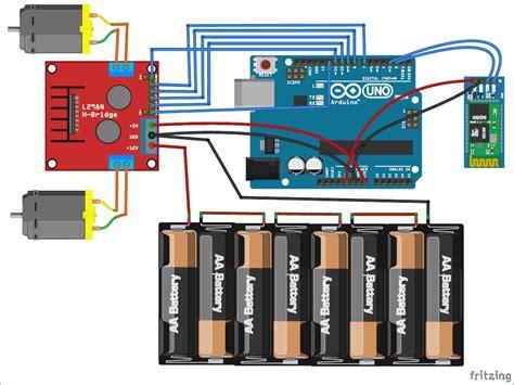 led lentypen schematic for g sensor controlled robot car arduino