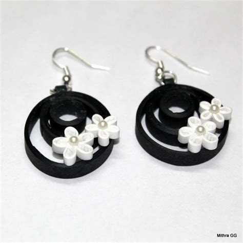 Earring With Paper - best 25 quilling earrings ideas on diy