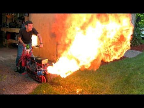 doodle bug killer dirt doodle bug mini bike custom flamethrower exhaust