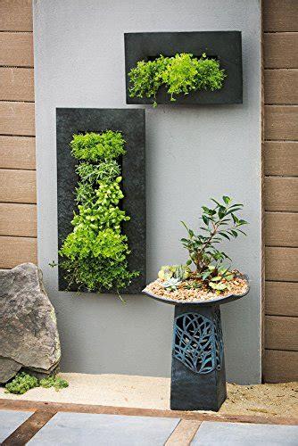 evergreen black zinc  pocket metal wall planter buy