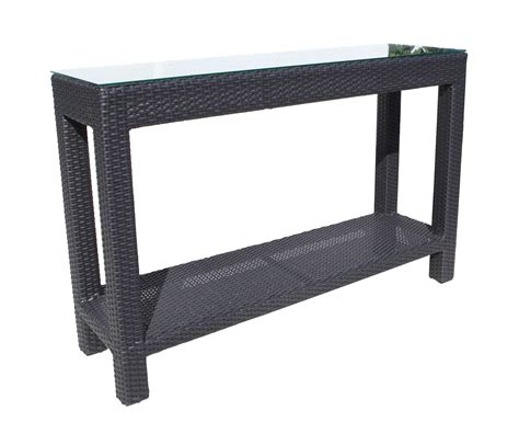 outdoor wicker console table chorus deep seating wicker console table patio at sun