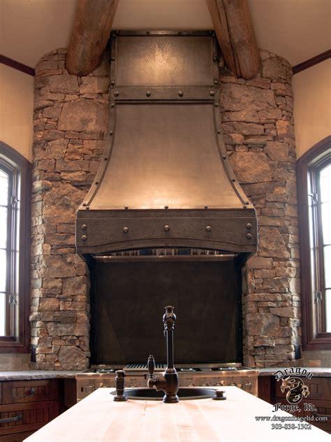 Forged Iron Kitchen Stove Hood   Dragon Forge   Colorado