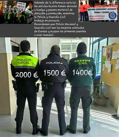 salario de un policia de la provincia en 2016 polic 237 as y guardias civiles crean jusapol una plataforma