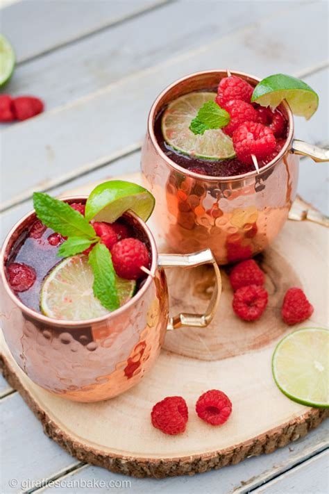 raspberry lime moscow mule platings pairings raspberry moscow mule a summer cocktail giraffes bake