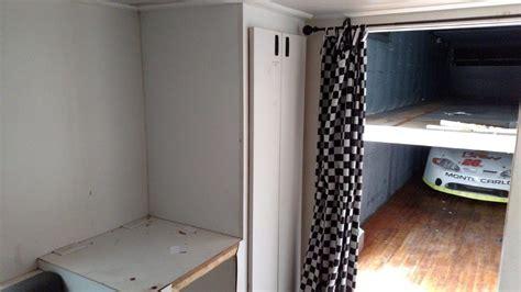 C Tech Trailer Cabinets by Window