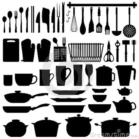 Kitchen Set A Others kitchen utensils silhouette vector royalty free stock