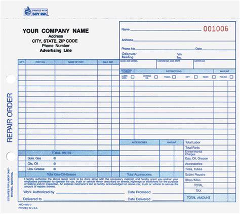 printable repair order forms printable work order forms forms manual forms