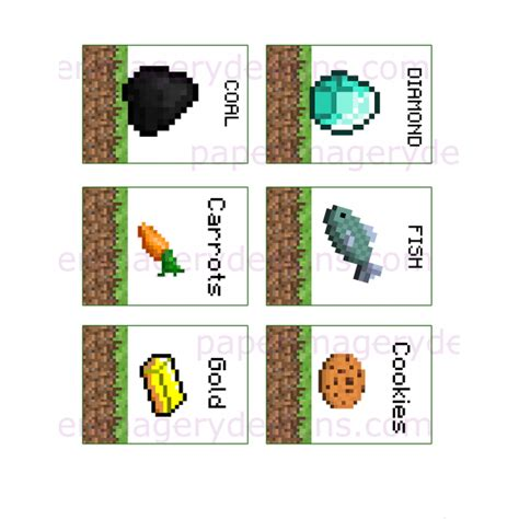 printable minecraft label free printable minecraft food labels