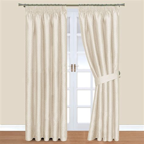 lined drapery nevada cream pencil pleat lined curtains