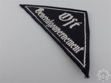 Triangle Sleeve a bdm district triangle sleeve badge with rzm tag