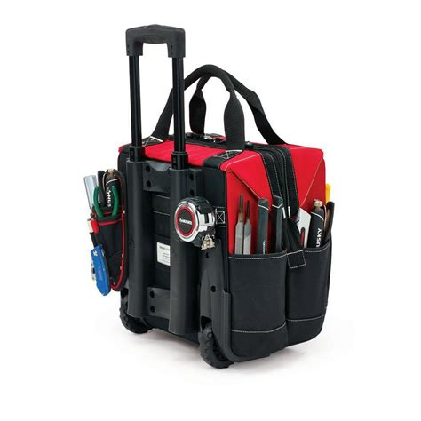 husky 14 in rolling tool tote tool bags jbclogistics