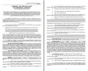 Contract Of Agreement Template home renovation agreement template for word free