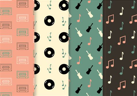 vector pattern with music notes free music pattern vector download free vector art