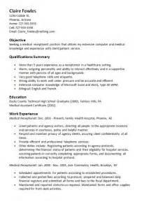 Cover Letter For Medical Secretary desk medical receptionist resume cover letter sample cover letter