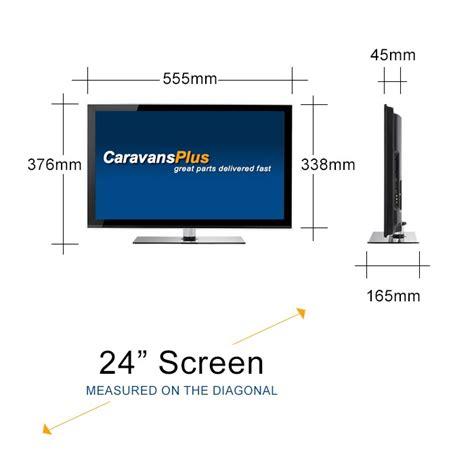 23 Inch Rack Dimensions by Caravansplus Rv Media 24 Inch Hd Led Tv Dvd Combo
