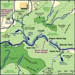 colorado scenic byways map silver thread byway lake city creede colorado scenic