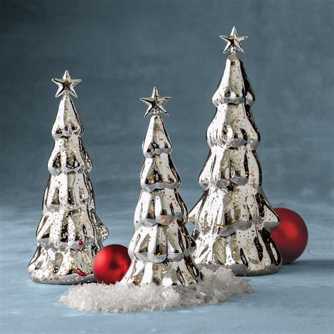 lighted mercury glass mercury glass lighted trees gump s