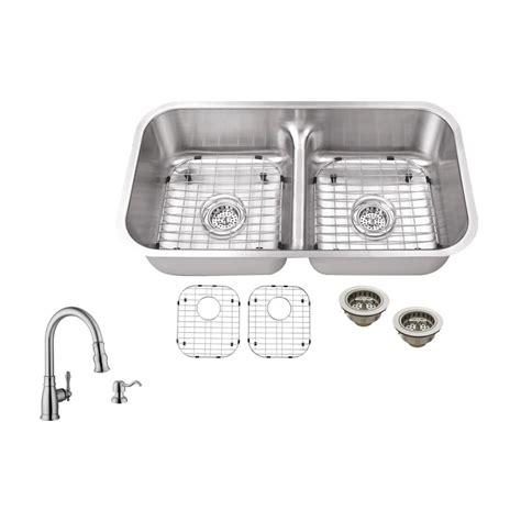 brushed steel kitchen sink ipt sink company undermount 33 in 18 gauge stainless