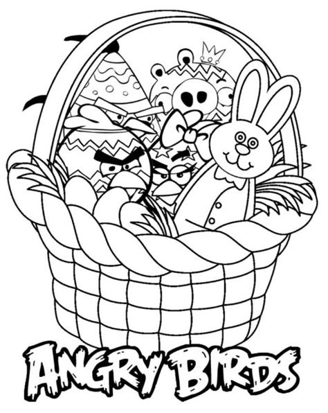 angry birds easter coloring pages a picture of angry birds coloring home