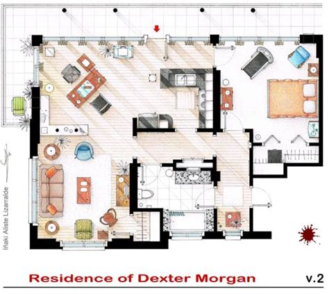 floor plans of homes from famous tv shows floor plans for famous television show houses randommization
