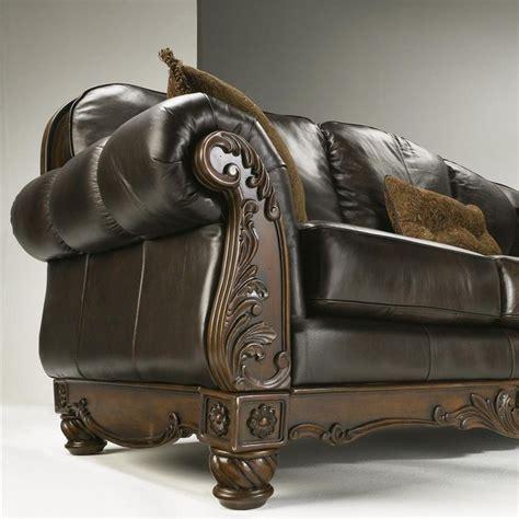 north shore dark brown sofa north shore dark brown traditional leather sofa by