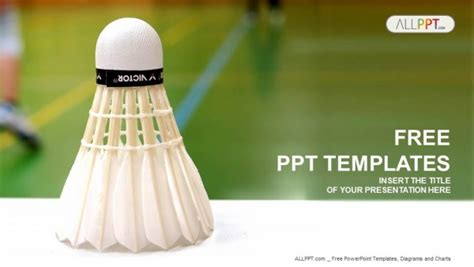 Shuttlecock Badminton Powerpoint Templates Badminton Ppt Templates Free